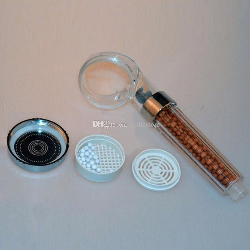 New Healthcare Anion Pressurized Water saving Handheld Shower Head Nozzle E00459