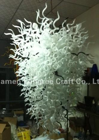 Free Shipping Color/Size Customized CE/UL Certificate Big Size Stylish Birthday Decoration Items Murano Glass Chandelier