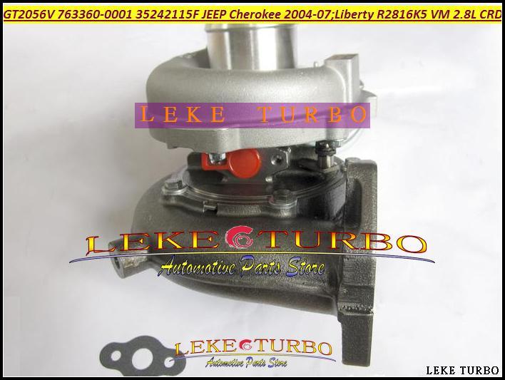 GT2056V 763360 763360-5001S 763360-0001 35242115F Turbo Turbocharger For Jeep Cherokee 2.8L CRD 2004-07 Liberty 2004 150HP 163HP R2816K5 VM (3)