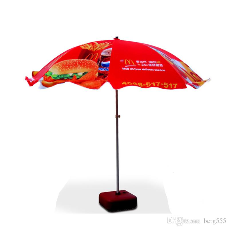 52in Metal Round Garden Parasol Canopy Patio Sun Shade Terrace Umbrella Crank Tilt With 28L Plastic Red Water Tank Custom Printing Service Patio Parasol ...  sc 1 st  DHgate.com & 52in Metal Round Garden Parasol Canopy Patio Sun Shade Terrace ...