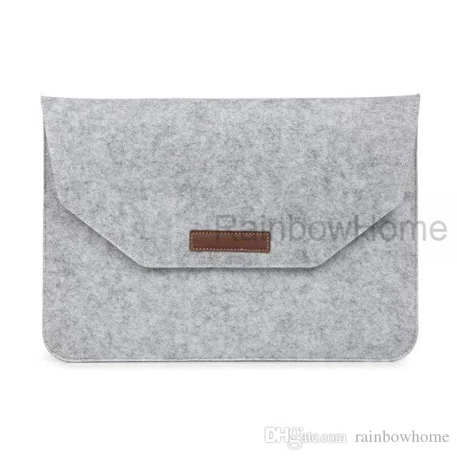 Felt Protective Sleeve Bag For Macbook Air Pro Retina 11 12 13 15 inch Laptop Storage Handbag Accessory Pouch Travelling Envelope Bags