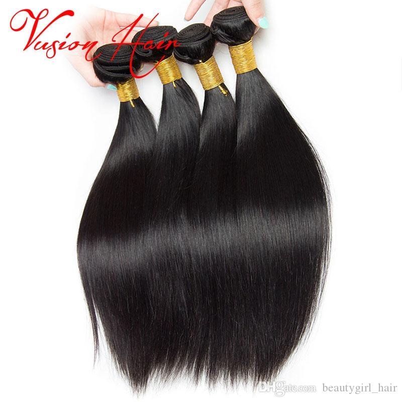 Straight Peruvian Hair 3 BundlesNatural Black 7a Virgin Hair Brazilian Indian Malaysian Malaysian Hair Bundles 8-28 Inches Mixed Sale