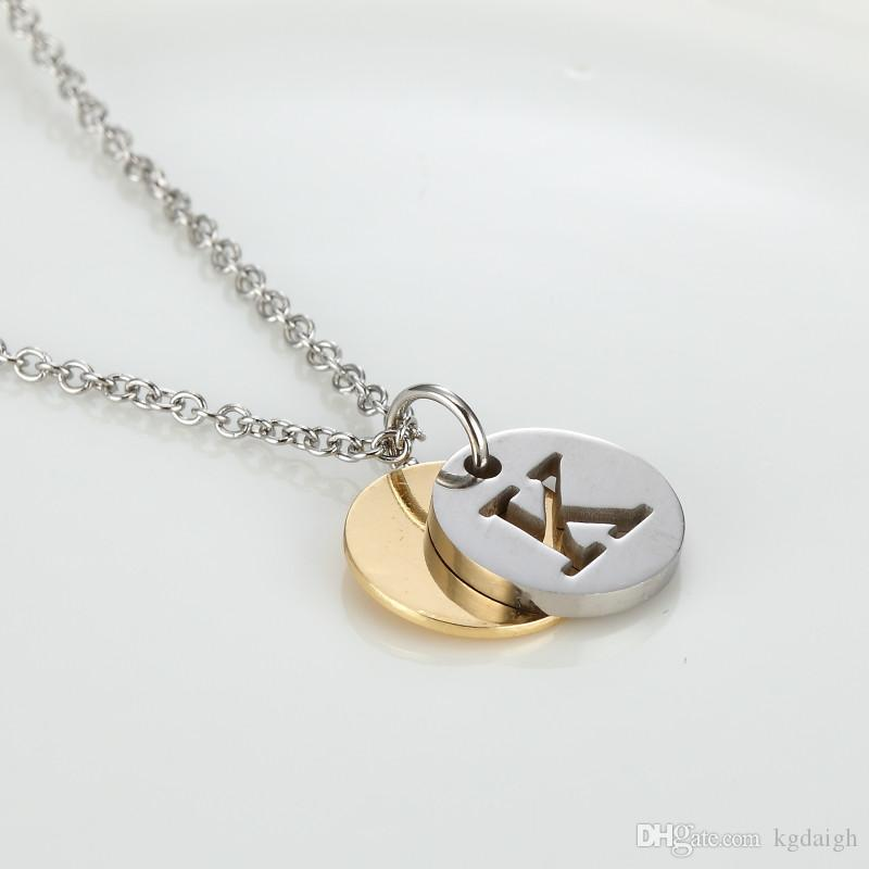 collier alfabet pendants l steel m t k wholesale gold s women u pendant necklaces choker q jewelry product r stainless necklace initial n p kolye letter