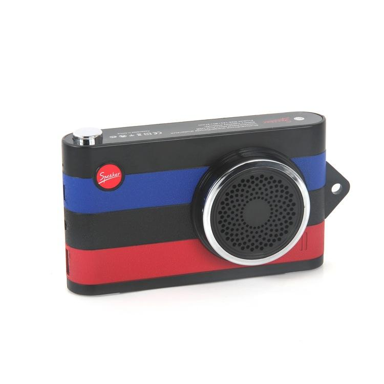 Mini F4 Multi-function Bluetooth Speaker Wireless Camera Style Control Stereo Portable Speaker 4000MAH Power Bank FM Radio MP3 Player