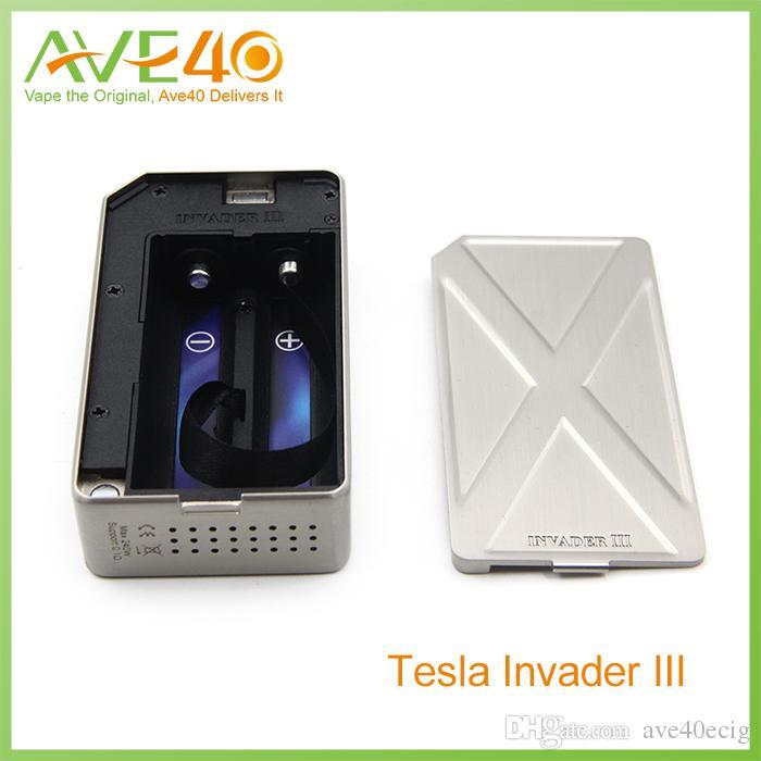 Оригинальный Tesla Invader III 240 Вт Box Mod Invader 3 электронные сигареты Vape Моды fit 18650 аккумулятор 510 испаритель танки RDA форсунки