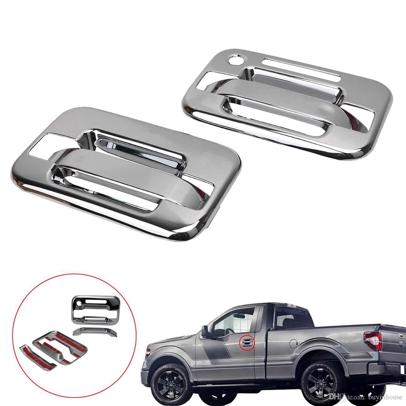 2019 Triple Chrome Plated Abs Door Handle Cover 2d W Keypad W O