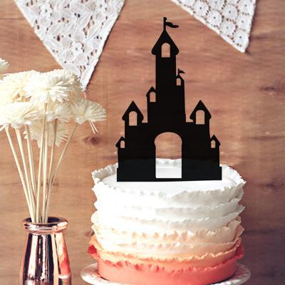 party decor princess glitter fairy tale castle cake topper silhouette cake topper for wedding anniversary wedding party decor wedding decoration shop