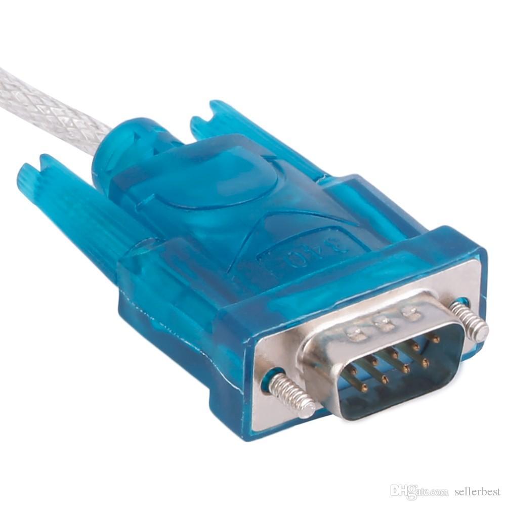 HL-340 CH340 USB RS232 COM 포트 직렬 PDA 9 핀 DB9 케이블 어댑터 지원 Windows 7 10 도매