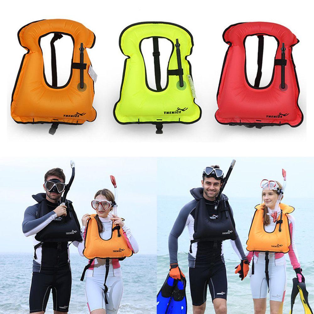 Thenice 1601 Mens Snorkeling Engrenagem Swimwear Adulto Inflável e Crianças Coletes salva-vidas Vest Swimwear