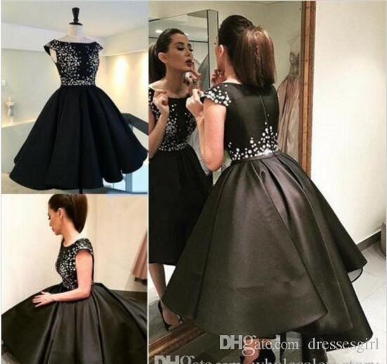 High Low Black Party Dresses for Juniors
