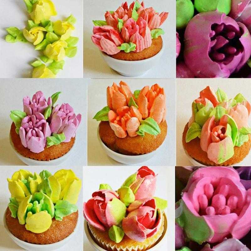 7PCS/Set Stainless Steel Russian Tulip Icing Piping Nozzles Pastry Decorating Tips Cake Cupcake Decorator Rose Kitchen Accessories