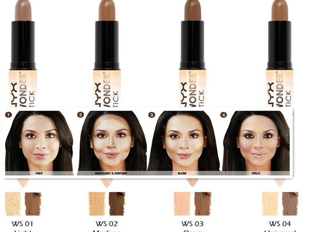92110156e01d Factory price!! NYX Wonder Stick concealer Highlighter Contour Stick  Foundation Face makeup Double-ended Contour stick 4 Colors