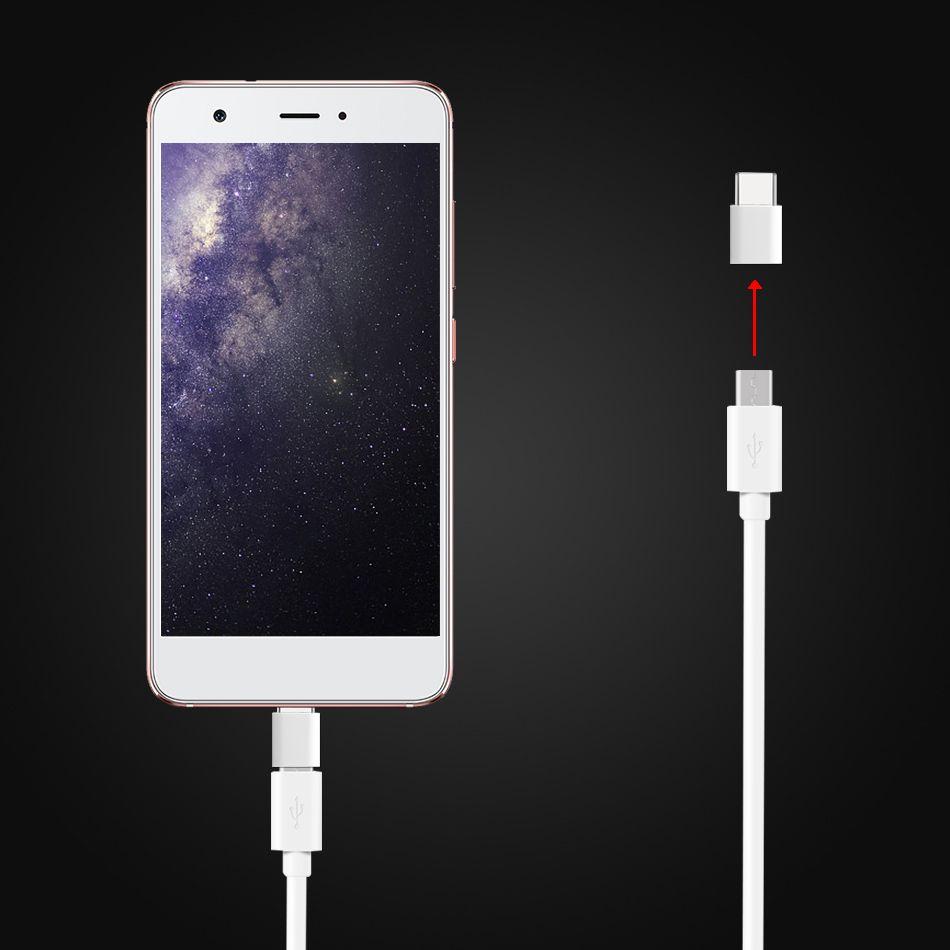 Mini connecteur Mirco USB vers connecteur C USB universel pour téléphones portables Connecteur de conversion USB pour Samsung S8 S8 Plus S9 Note 8 Huawei P9
