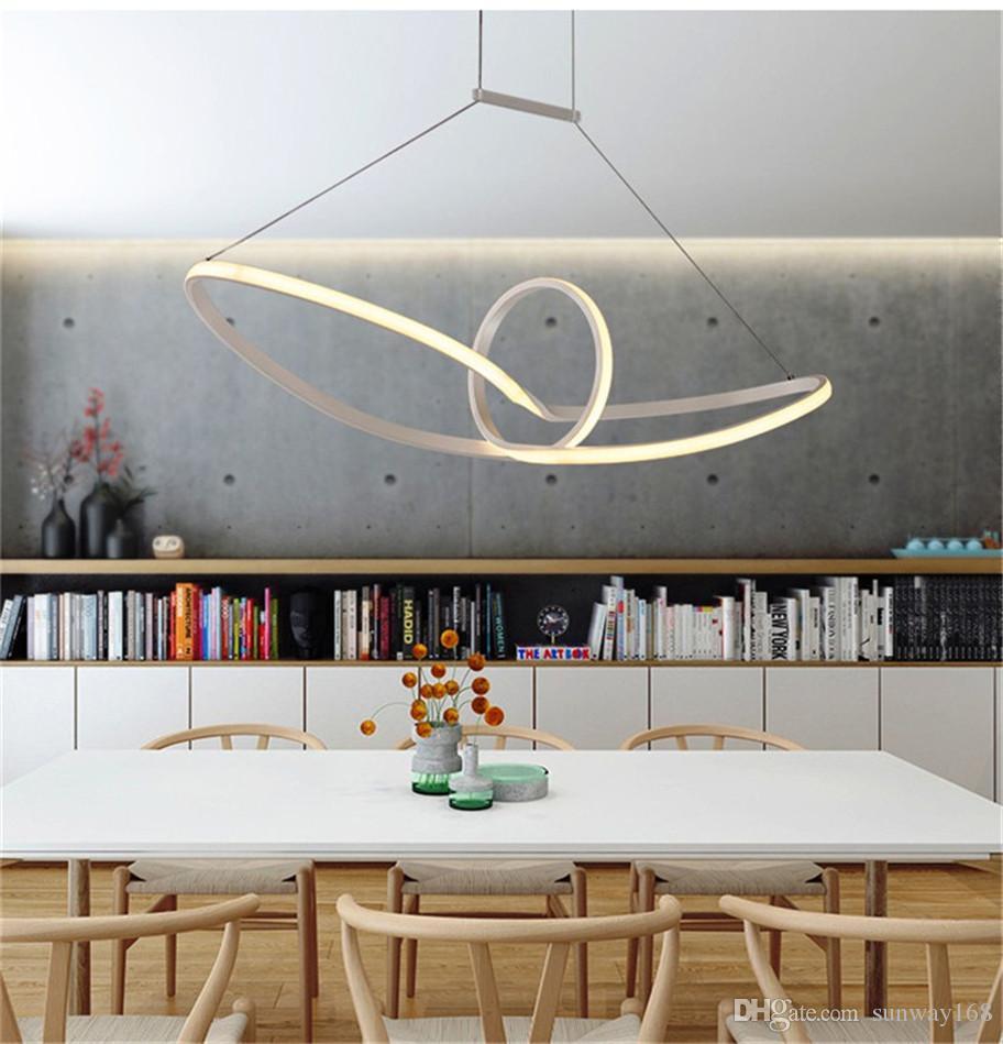 Discount Modern Acrylic Led Pendant Light Led Hanging Lamp ...