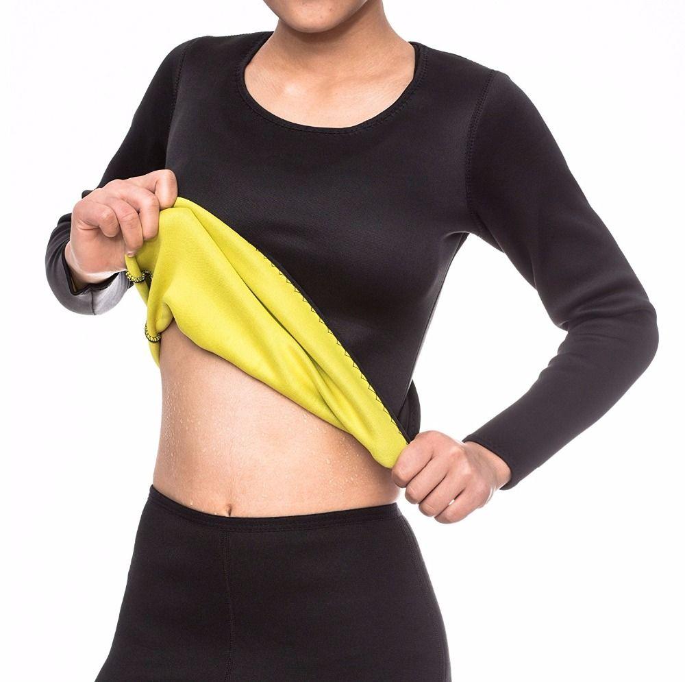 b3f8f091df 2019 Wholesale NEFUTRY Sweat Hot Shapers Long Sleeve T Shirt Neoprene Body  Shaper Weight Loss Slimming Shirt Fajas Fajas Reductoras From Ppkk
