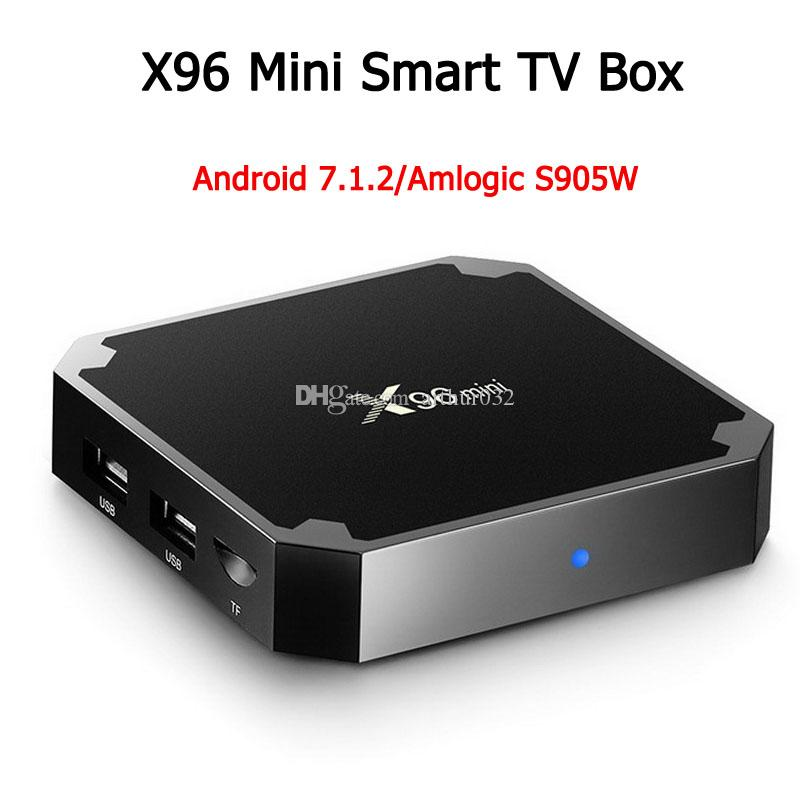 X96 Mini Android 7.1 Amlogic S905W Quad-Core-TV-Box 2 GB 16 GB 1 GB 8 GB Support H.265 UHD 4K 2,4 GHz WiFi Set-Top-Box