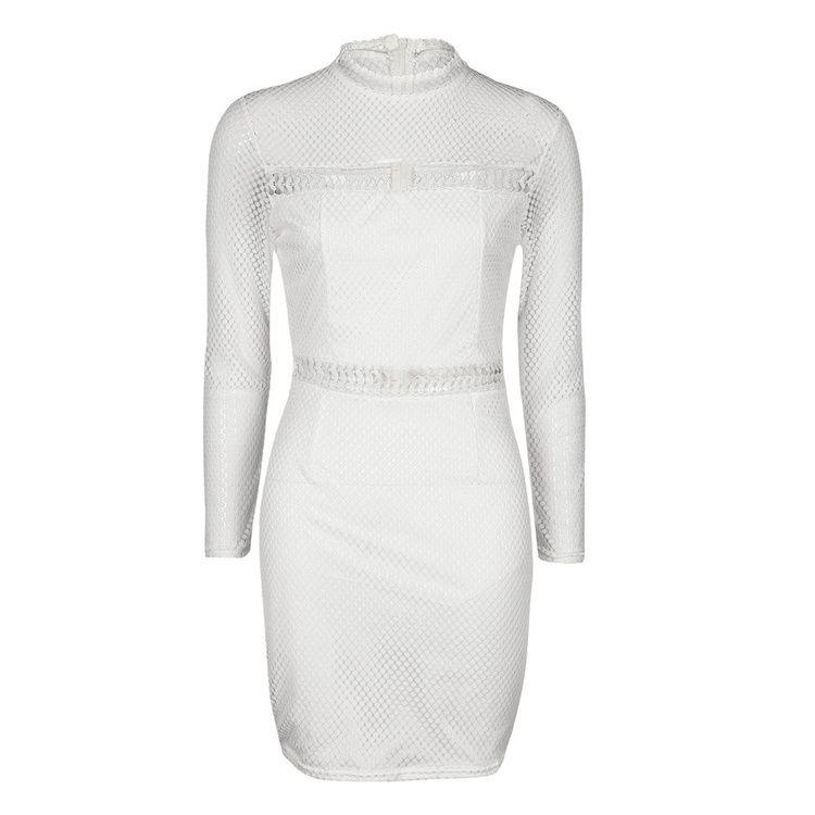 Yeni Turtleneck Uzun Kollu Midi Seksi Kulübü Bodycon Elbise oymak Sonbahar katı patchwork Kadın Elastik Zarif Elbiseler MTL170811
