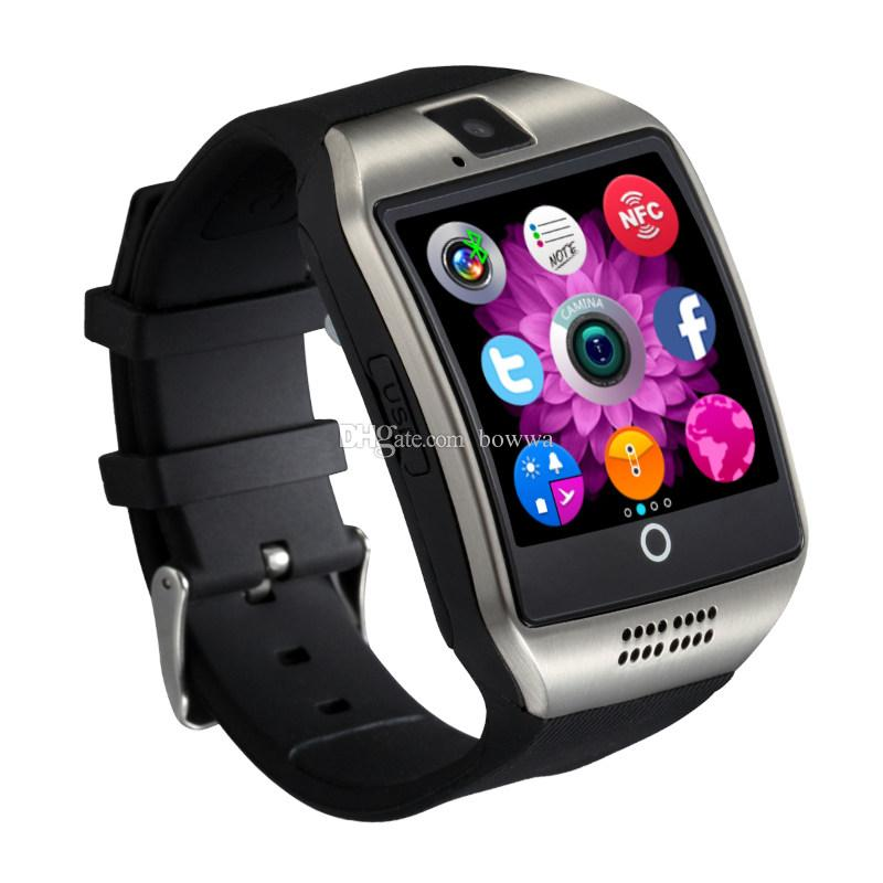 Q18 smart watches for android phones Bluetooth Smartwatch with Camera Original q18 Support Tf sim Card Slot Bluetooth