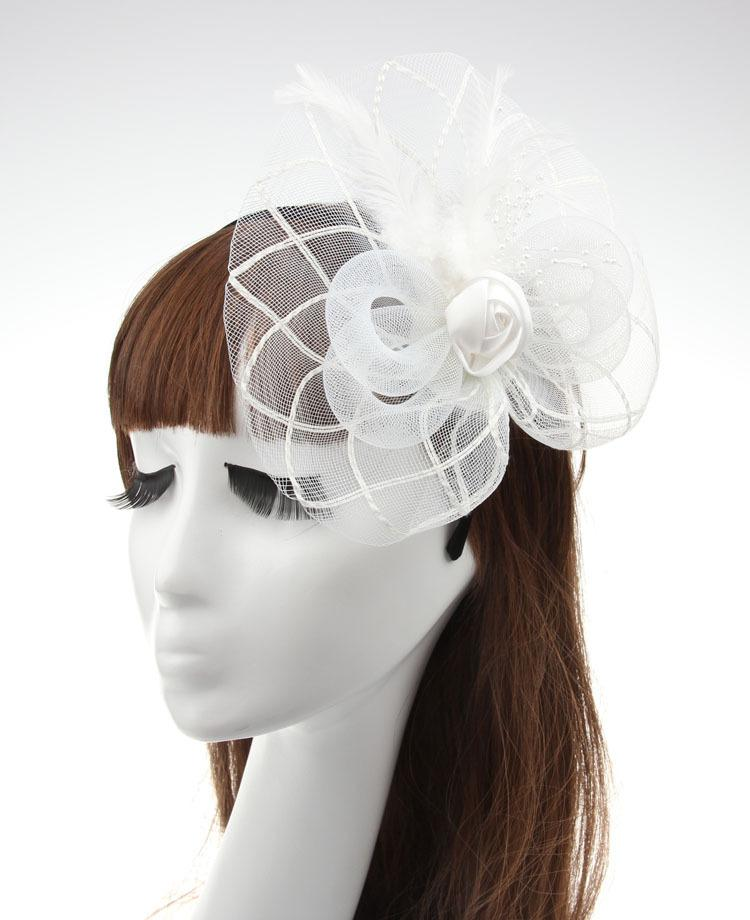 DHL FREE Bridal wedding hats for brides New feather Fascinator Hair hairbands headpieces Party evening bow hair pieces accessories