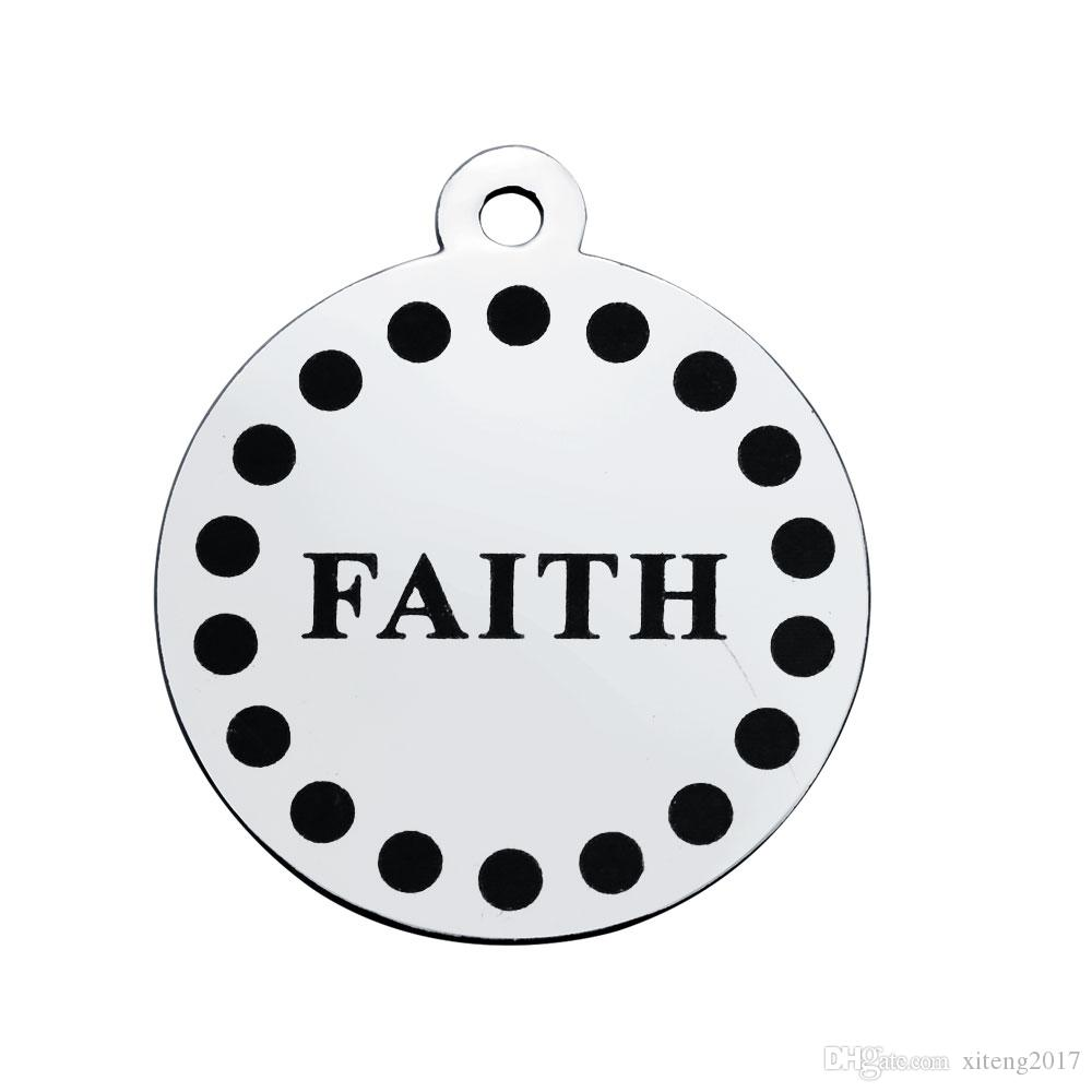 New arrivals high quality stainless steel charm for jewelry making supplies DIY handmade designer jewelry faith & survivor & bless charms