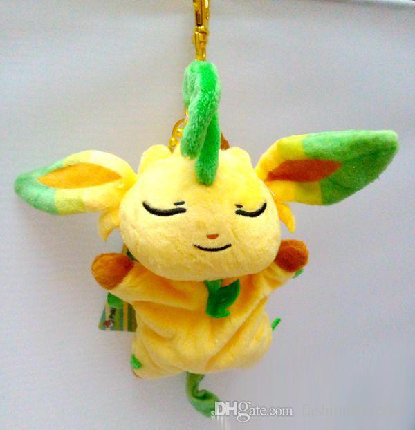 20Style New Poke Pikachu Plush Pendant Key Rings Cartoon Figure Costume Animal Handle Bag Phone Stuffed Doll KeyChain XMAS Toys Gifts