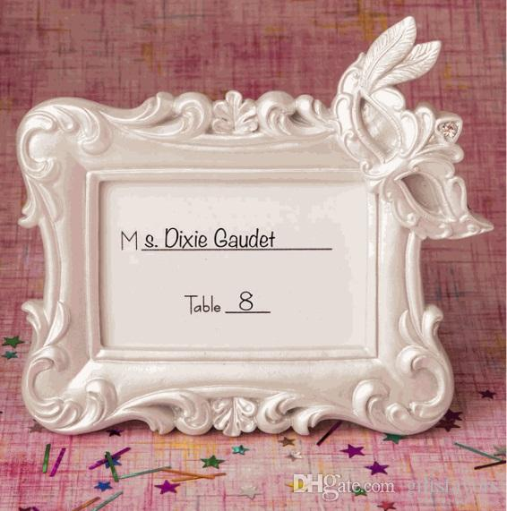 Resin Masquerade Mask Place Card Holder Photo Frame For Wedding ...
