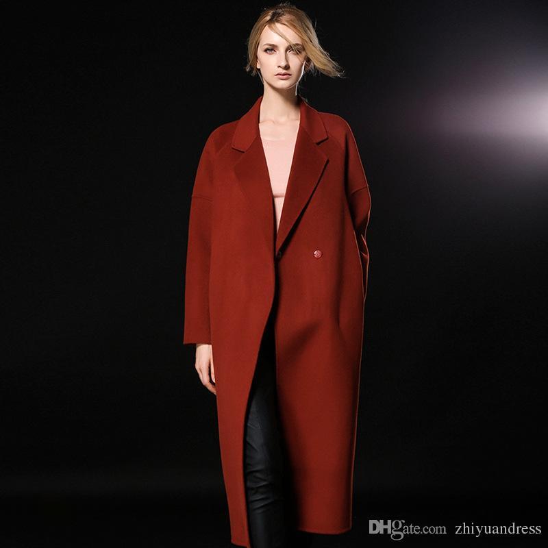 63484c4a89973 2018 Wholesale High Quality Outerwear Fashion Women Lapel Double ...