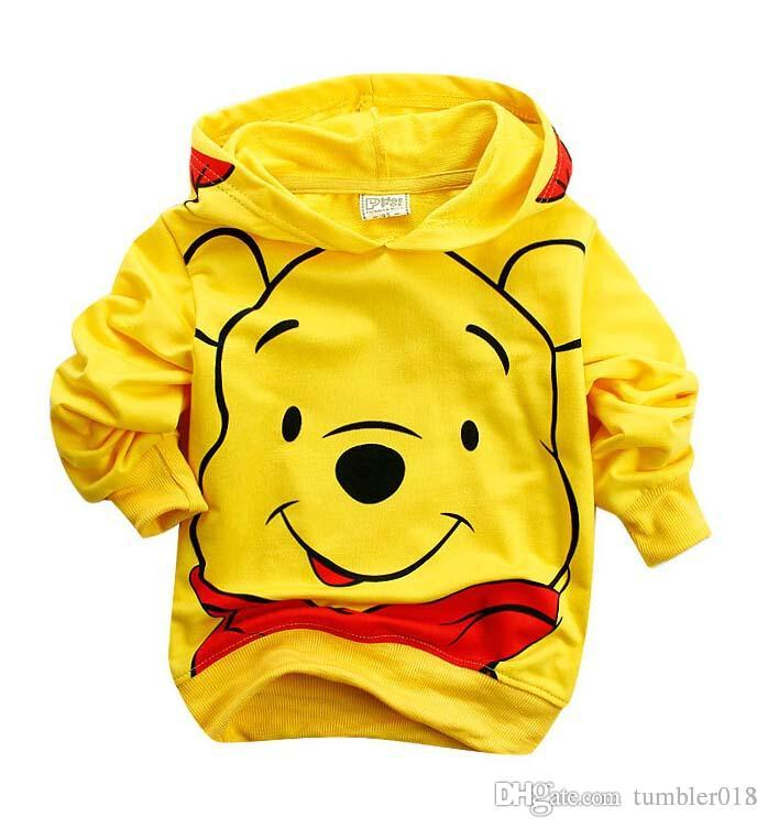 baby girls and boys jacket kids hoodies coat children clothing kids pure cotton cartoon pooh bear coats new style autumn winter coats