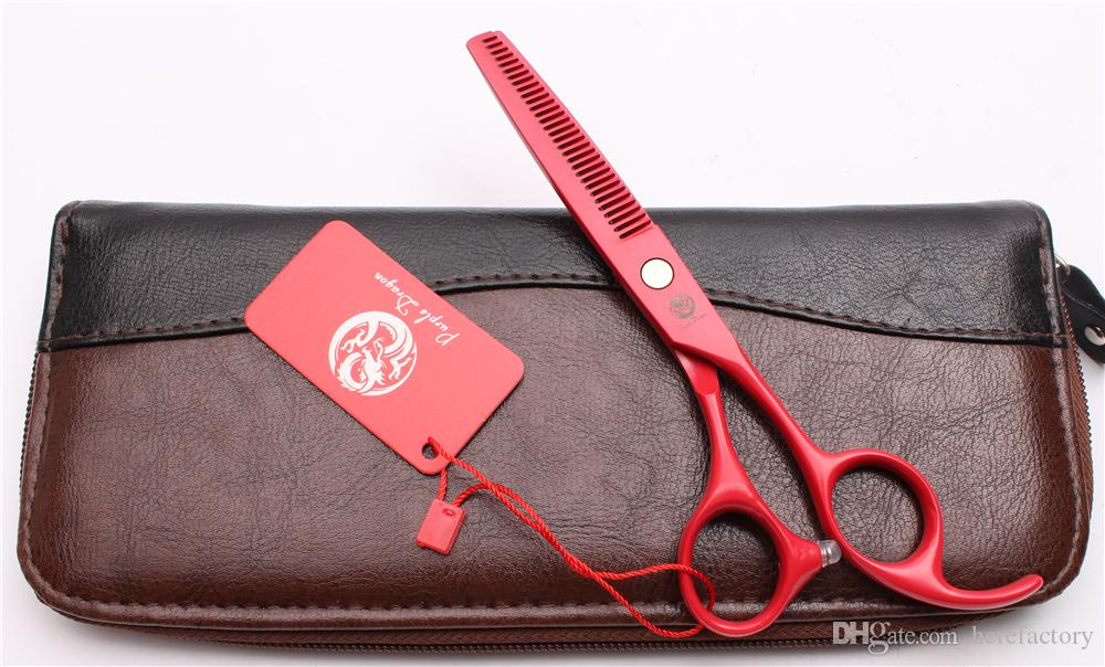 """Z1023 6"""" Japan 440C Purple Dragon Laser Professional Human Hair Scissors Barbers' Hairdressing Scissors Cutting Thinning Shears Style Tools"""