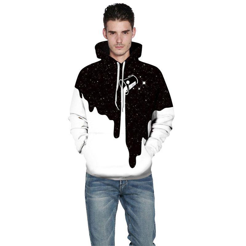 Fashion Men/Women 3d hoodies for men designer hoodie sweatshirt printed Spilled Milk Space Galaxy hooded sweatshirts Thin unisex pullover