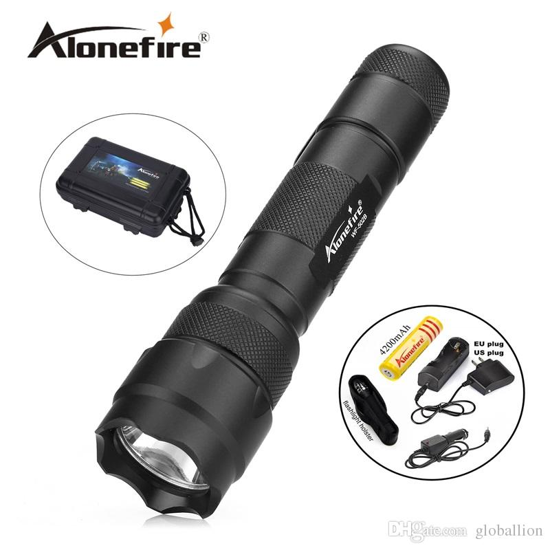 502B Tactical Flashlight XML T6 LED Torch Lamp Lantern linterna led Flashlight tatica light lantern+Rechargeable 18650 battery+charger