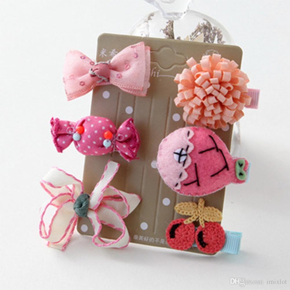 Headwear Set Children Accessories Ribbon Bow Hair Clip Hairpin Rabbit Ears For Girls Princess Star Headdress