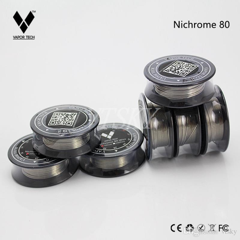 Nuovo VAPOR TECH Nichrome 80 Wire 30 Feet NI80 Wire Bobina fai da te fai da te Ricostruibile Atomizzatore vaporizzatore RDA RBA