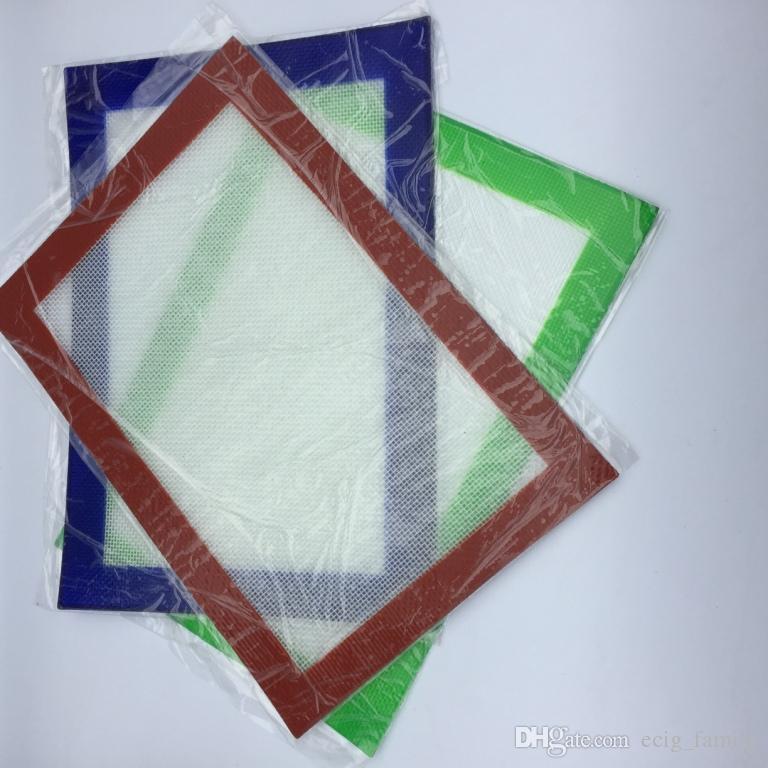 Kit de cire de silicone Set avec des feuilles carrées tampons tapis baril tambour 26ml huile de silicium contenant dabber outil pour sec pots de plantes dab dab