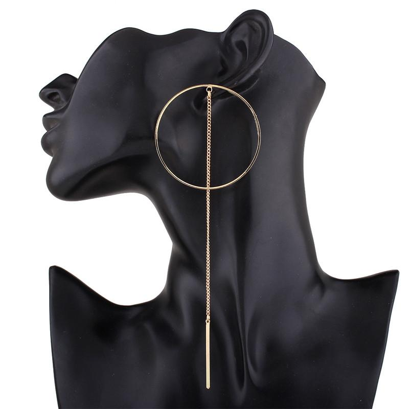Fashion Long Chain Tassel Earrings For Women Accessories Circle Big Dangle Earrings Statement Jewelry Bijoux Brincos HD-269
