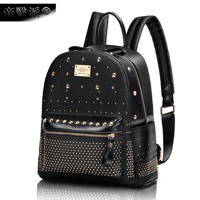 124abef429 Mini Travel Backpack Backpack Ms. Rivet Korean Version of the New ...