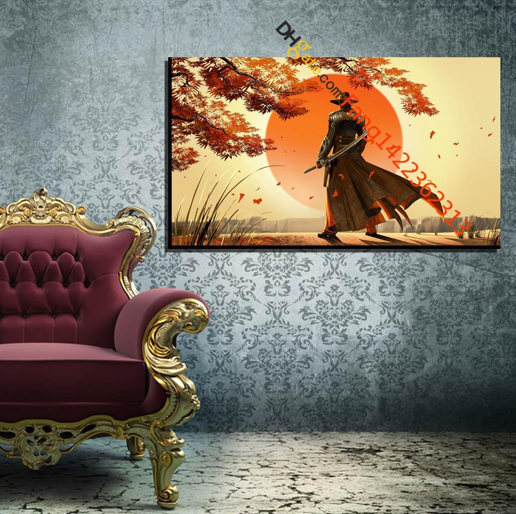 2019 artwork cowboys fantasy art japan samurai premium art print hd canvas prints wall art for home decorunframed from fang1422362313 10 75 dhgate com
