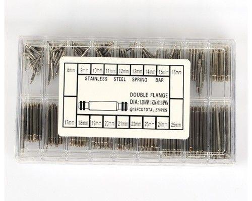 Uhrmacher-geeignete / set volle Größe Watchear 8-25mm Edelstahl-Uhr-Frühlings-Stab-Ansatz-doppelte Flansch-Werkzeuge Ouvre Montre