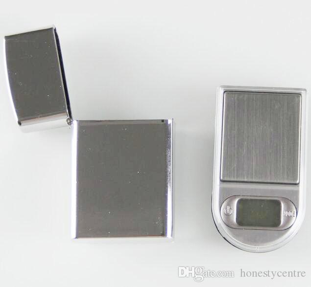 200g x 0.01g eletrônico Mini LCD Digital de bolso tipo de isqueiro Escala de Jóias de Ouro Diamante Gram Escala com luz de fundo