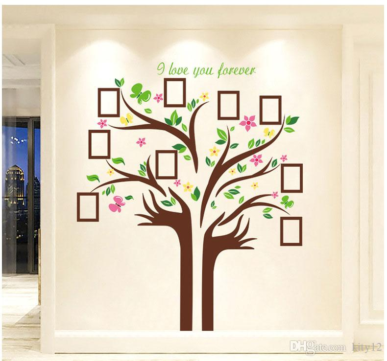 Large Size Family Photo Frames Love Tree Wall Stickers DIY Home Decoration Wall Decals Modern Art Murals for Living Room