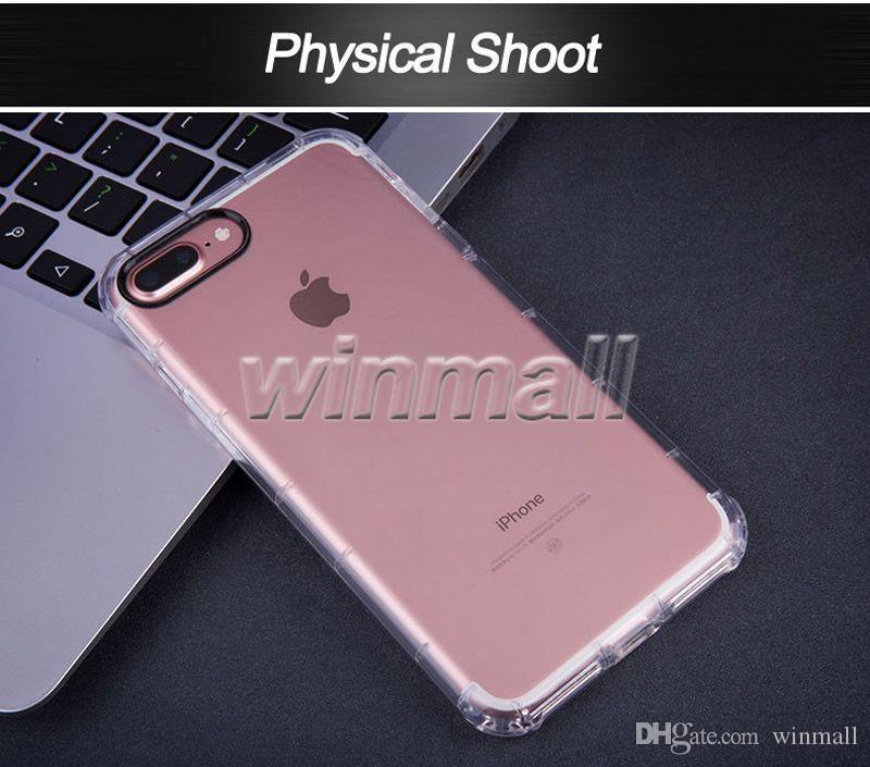 For iphone 7 plus Case Crystal Clear Gel Shockproof TPU Case Protective Camera Back Cover For iPhone 6s/ 6s Plus Case