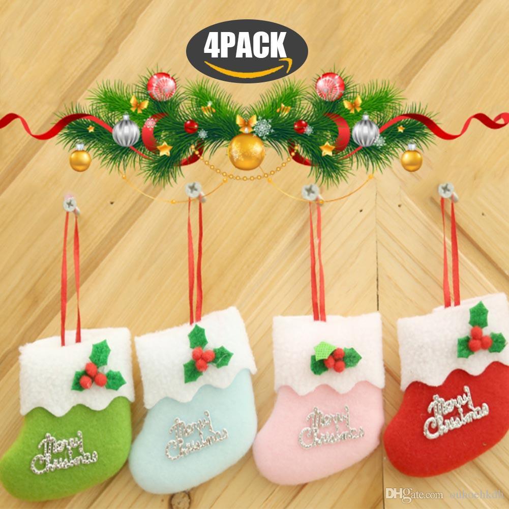 Großhandel Weihnachtssocken Für Geschenke Weihnachtsbaum Hängende ...