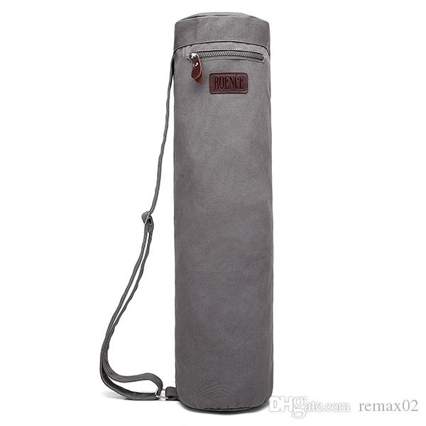 Exercise Full Zip Yoga Mat Bag Sport Sling Bag with Sturdy Canvas, Smooth Zippers, Adjustable Strap, Large Functional Storage Pocket
