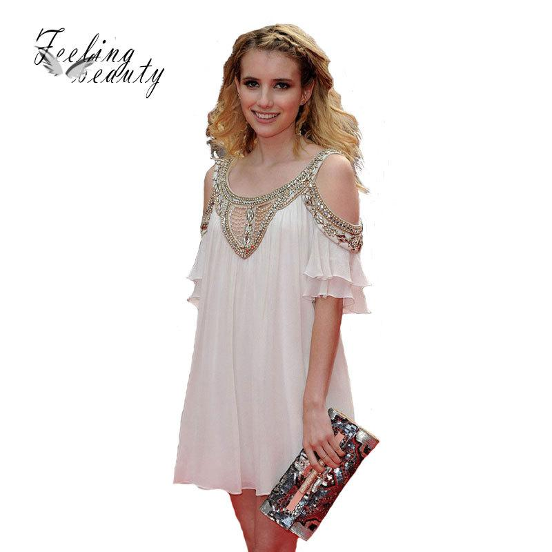 Summer Dress Star Bling Style Beading Brief Elegant Women Dress Sexy ...