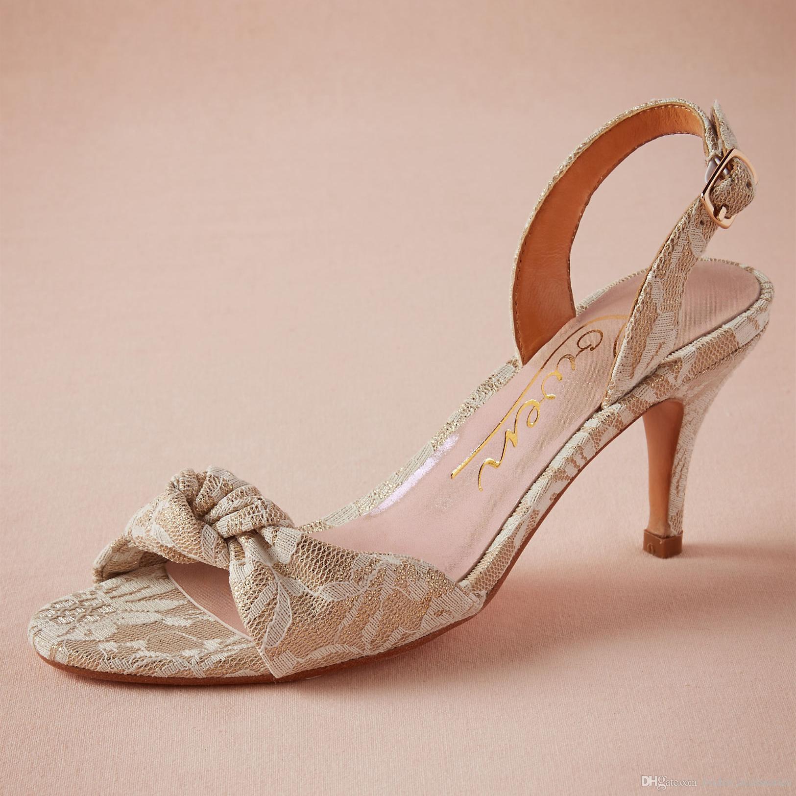 Handmade Lace Wedding Shoes Open Toe Sandals Specter Heels Party Dance Pumps  Sandals 3 Kitten Heels Designer Bridal Pump Shoes Mischka Badgley Shoes  Navy ... 0f65d8eb6601