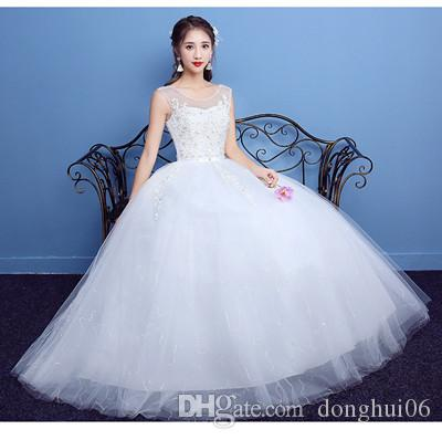 2017 Autumn Wedding Dress Tight Comfortable Lace Up Back Floor ...