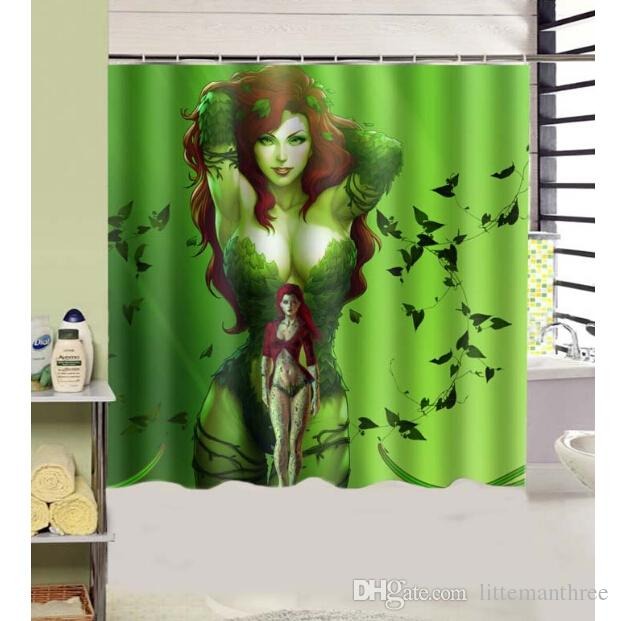 2018 Poison Ivy Design Shower Curtain Size 180 X Cm Custom Waterproof Polyester Fabric Bath Curtains From Littemanthree 2513