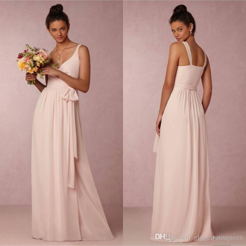 Compre Impresionantes Vestidos De Dama De Honor De Color Rosa Claro ...