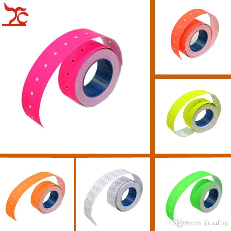 Jewelry Display Jewelry packaging 10 Rolls orange colorful priceTags Label for MX-5500 GUNS REFILL Wholesale