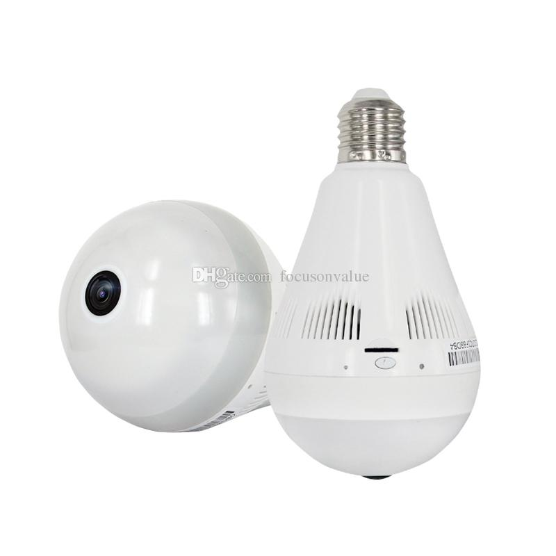 Wireless Bulb Light IP Camera HD 960P Wi-fi FishEye Panoramic camera 360 degree Full View Mini CCTV Camera Home Security Camcorder